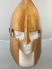 NEW GLADIATOR GOLD RESIN MASK ELASTICATED STRAP BOXED