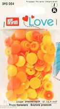Love Druckknöpfe Color Snaps 393004 gelbtöne 12,4 mm Prym nähen stricken Knopf