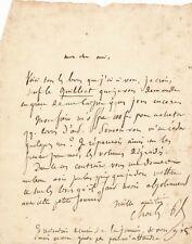 art Charles Blanc lettre autographe signée livres achat jeunesse quilliet
