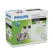 2x Philips H4 LongerLife Halógeno 2x Lifetime 12342ELC2
