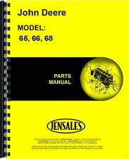 John Deere 65 66 68 Lawn & Garden Tractor Parts Manual (Jd-P-Pc1507)