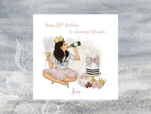 Personalised Handmade 18th, 21st, 30th, 40th Birthday Card Daughter Sister Niece