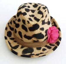 GAP~BRYANT PARK LEOPARD FEDORA HAT~M L 4 5 4T 5T~EUC