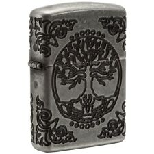 """Zippo """"Tree of Life"""" Antique Silver Plated Armor Lighter, 2-Sided,  29670"""