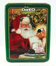 Vintage Oreo Tin 1997 Xmas Santa Claus Anniversary Can Box Empty Container
