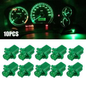 10pcs T5 B8.3D Green LED Dashboard Speedometer Dash Gauge Instrument Light Bulbs