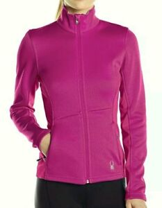 Spyder Jewel Mid WT Core Sweater 503024 Women's Medium Full Zipp Pink NEW $99