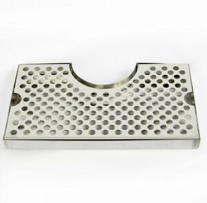 Drip Tray Stainless Steel with Cutout for Tap Tower Beer Pub Bar Kegerator Keg