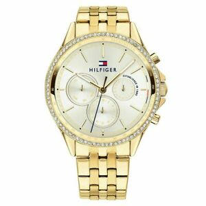 Tommy Hilfiger 1781977 Ari White Gold Stainless Steel Ladies Chronograph Watch