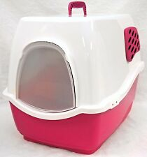 SEALED NEW Marchioro Bill 1F Covered Cat Litter Pan Box w/Filter PINK kitty pet
