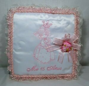 Quinceanera Mis Quince Anos 15 year Vintage Pillow Guest Book and Picture Album