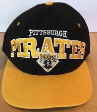 Vintage Pittsburgh Pirates Snapback Hat Starter Natural Tri Power Baseball Cap