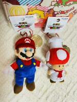 USJ Limited Mario Cook Toad Mascot Keychain 2 pcs set Super Nintendo World MINT