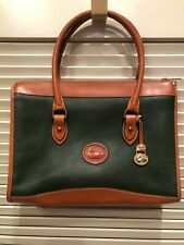 Vintage Dooney & Bourke FIR GREEN Shoulder Satchel Mini Briefcase Shoulderbag