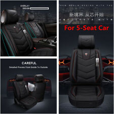 6D Full Surrounded Microfiber Leather 5-Seat Car Seat Cover Cushion Protection