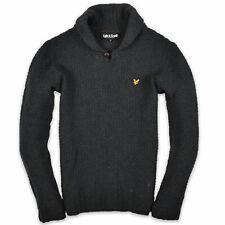 Lyle & Scott Herren Pullover Sweater Strick Gr.M 100% Lamm Wolle Grün 105491