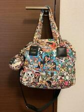 LeSportsac tokidoki Collaboration Tote Shoulder Bag Multicolor With Charm 2014