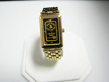 c910 Pretty Zitura Watch with a Replica of a Swiss Bank gold bar dial