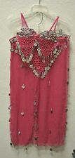Belly Dance Costume Spanish Gypsy New Belly Dancing 2 Piece One Size Majenta