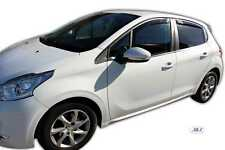DPE26147 PEUGEOT 208 5 DOOR 2012- up wind deflectors 4pc set TINTED HEKO