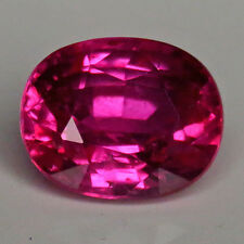 2.03 Cts GIA CERTIFIED NATURAL UNHEATED PURPLISH RED COLOR OVAL RUBY CVDO