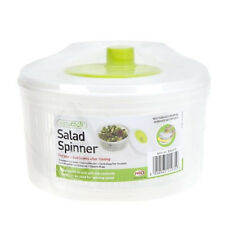 PLASTIC LARGE SALAD SPINNER LEAF DRYER LETTUCE VEG DRAINER DRESSING HERB WATER