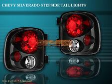 99-04 SILVERADO STEPSIDE JDM BLACK TAIL LIGHTS 99 00 01 02 03 04