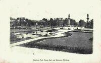 Highland Park Flower Beds Entrance People Pittsburg PA 1900's 1905 Postcard