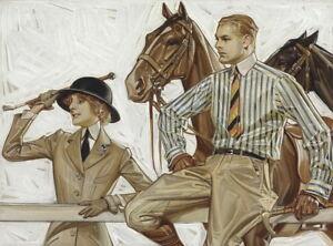 Joseph Christian Leyendecker Arrow Collar Giclee Canvas Print Paintings Poster
