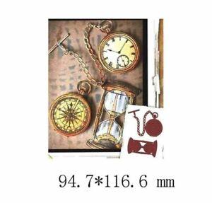 Steampunk Pocket Watch and Egg Timer Metal  Die Cutter