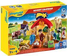 PLAYMOBIL Adventskalender 70259 Weihnachtskrippe mit liebevollen Figuren, Tieren