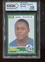 Barry Sanders RC 1989 Score #257 Detroit Lions HOF Rookie GEM MINT 10