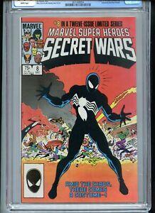 Marvel Secret Wars #8 CGC 9.4 White Pages Spiderman Black Costume