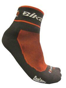 Cycling Bike Socks Fit for Men Women CoolMax Breathable Antibacterial Black Red