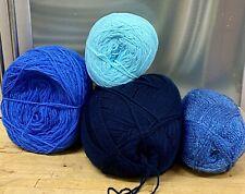 Knitting-Crochet-Yarn-420g-Blues-Royal-Turquoise-Corn-Crafts-7F