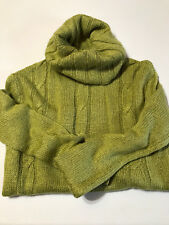 Wet Seal Cowl Neck Sweater 100% Acrylic Green S