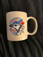 Vintage (1995) Toronto Blue Jays Hunter MLB White Coffee Mug Antique