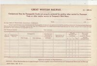 Damaged Goods Consign. Note Great Western Railway Vintage Official Form Rf 35553
