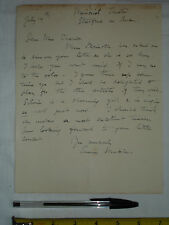 "Original used letter to Mrs France? signed ""Anne Muckle""? Stratford Theatre (#Q)"