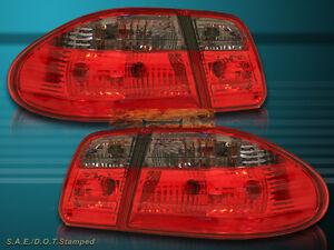 96-02 MERCEDES BENZ W210 E-Class E320 E420 RED SMOKE TAIL LIGHTS 4PC