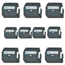 10PK Black on White MK231 Label Tape M-K231 for Brother P-touch PT-65 70 85 90
