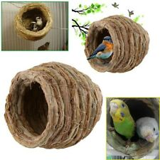 Parrot Bird Handwoven Straw Cage Animals Hamster Parrot Hatching Breeding Cave g