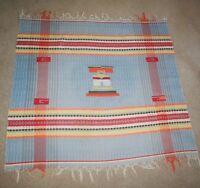 Vintage Native American Blanket Throw Rug Cotton Southwestern EXC.