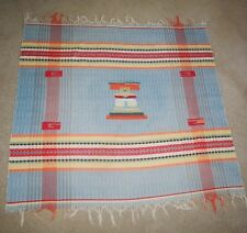 VTG Hand Woven Native American Lap Blanket Throw Blanket Cotton Tablecloth