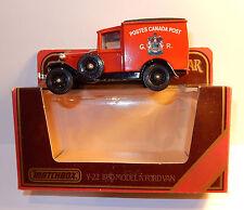 MATCHBOX FORD VAN MODEL A 1930 Y21/Y22 POSTES CANADA POST GR 1/40 IN BOX b