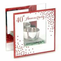 40th Ruby Wedding Anniversary Tea Light Holder Gift WG83740