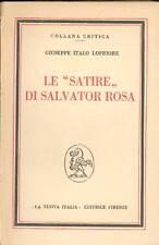 ROSA - Lopriore Giuseppe Italo, Le satire di Salvator Rosa