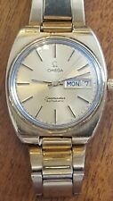 1970's Vintage Gold Omega Seamaster Automatic 17j Day Date Swiss Made Watch Nice