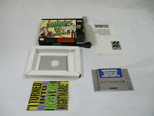 ZOMBIES ATE NEIGHBORS Super Nintendo SNES Authentic Box & Inserts NO GAME CART!