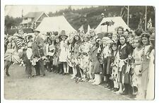 Group of Children in Fancy Dress at Carnival, Bournemouth RP PPC c 1910